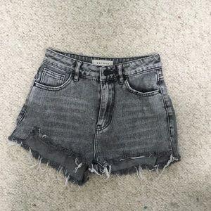 Whitewashed Black Pacsun Jean Shorts